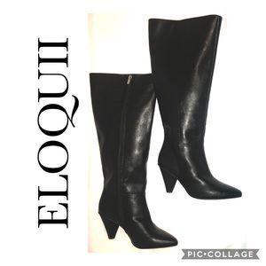 """ELOQUII """"KASS"""" Wide Calf Zip Up Boots Sz 8W"""